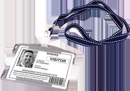 Visitor Management ID Badge